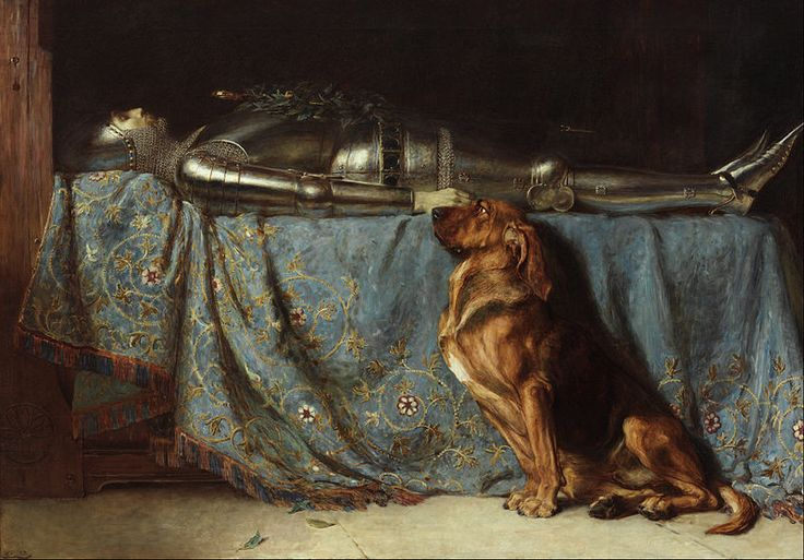 Briton-Riviere-Grieving-dog-painting